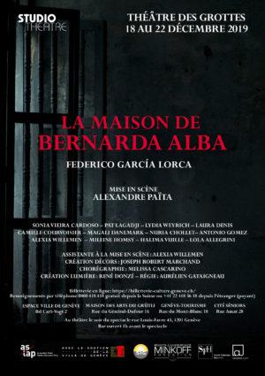 La Maison de Bernarda Alba, décembre 2019